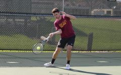 Men's Tennis Tops Battling Bishops, Finishes Third