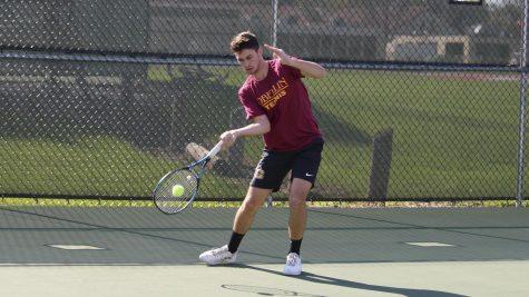 Men's Tennis Tops Battling Bishops, Finishes Third
