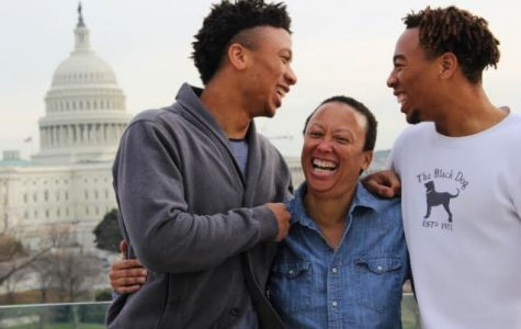 Malachi and Jabari Clemons with their mother.