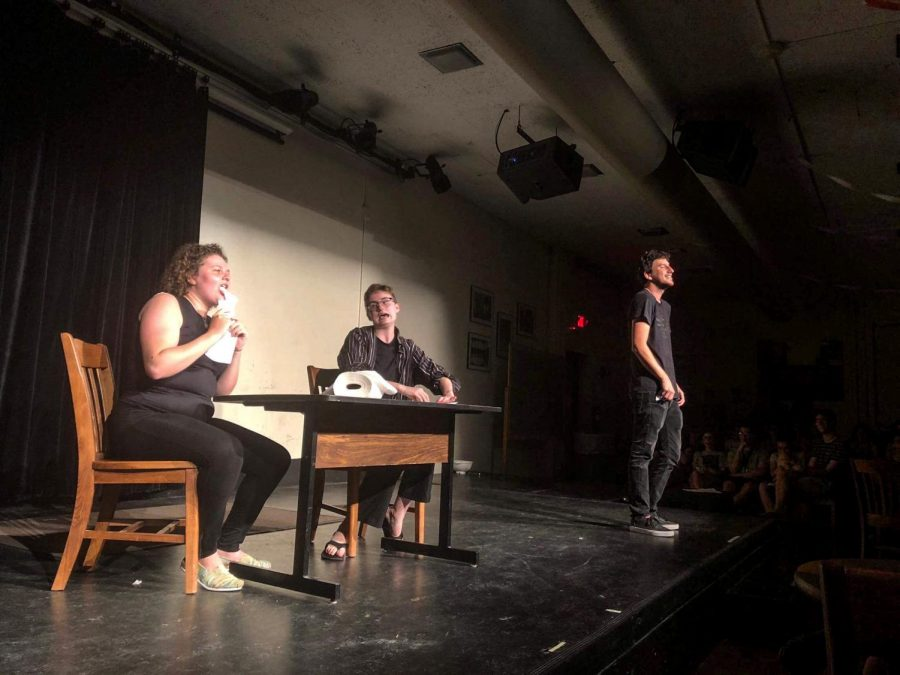 Members+of+the+comedy+group+Piscapo%E2%80%99s+Arm+performed+quirky+sketches+at+a+first-year+Orientation+comedy+show+last+Monday.