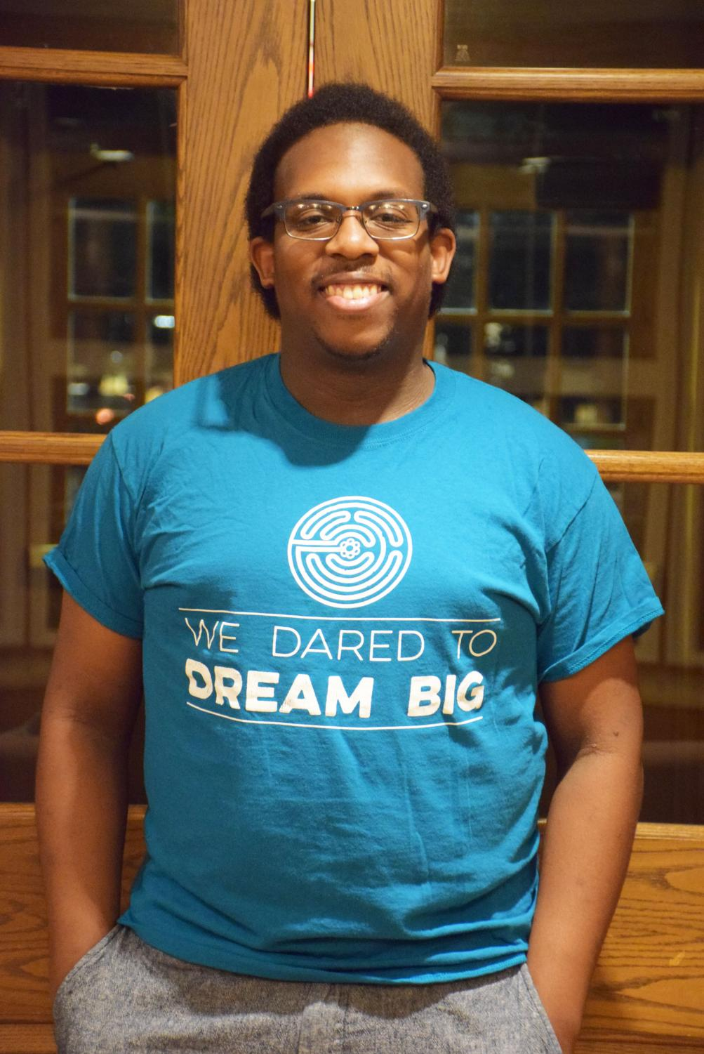Tré Quarles, OC '18, has worked with the Oberlin administration since he was a first-year. Since graduating, he has stayed on as an office assistant for the Office of Residential Education. Quarles graduated with a degree in Africana studies and hopes to be a familiar face for students in a trying time.