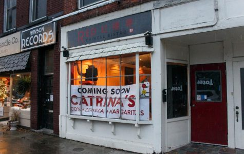 Catrina's, a new Oberlin restaurant, prepares to open on West College Street.