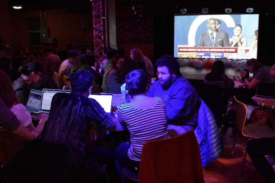 Students Take in Election Results at 'Sco Watch Party