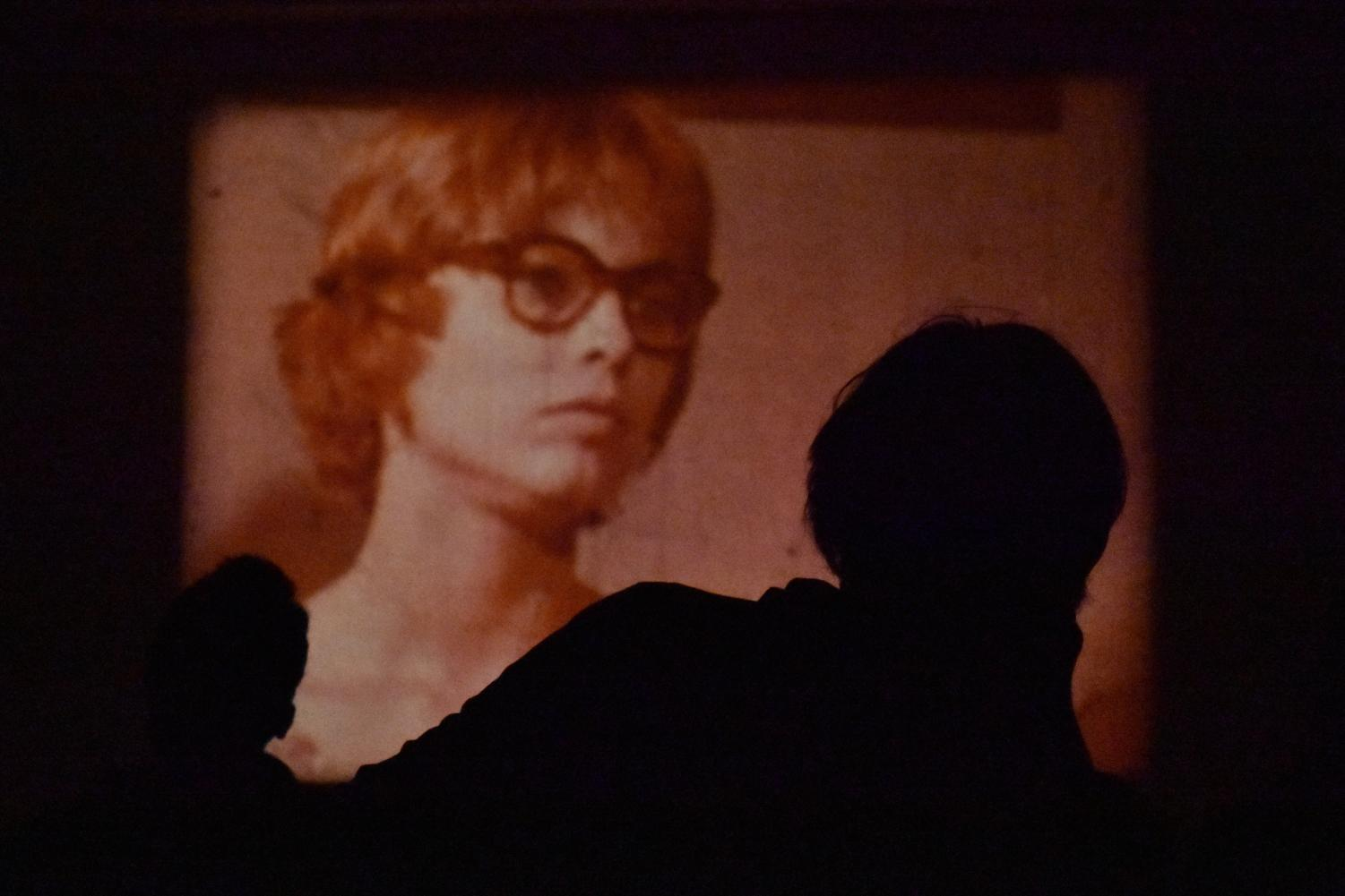 A still from one of filmmaker Luther Price's short films, screened Tuesday in the Clarence Ward '37 Art Building.