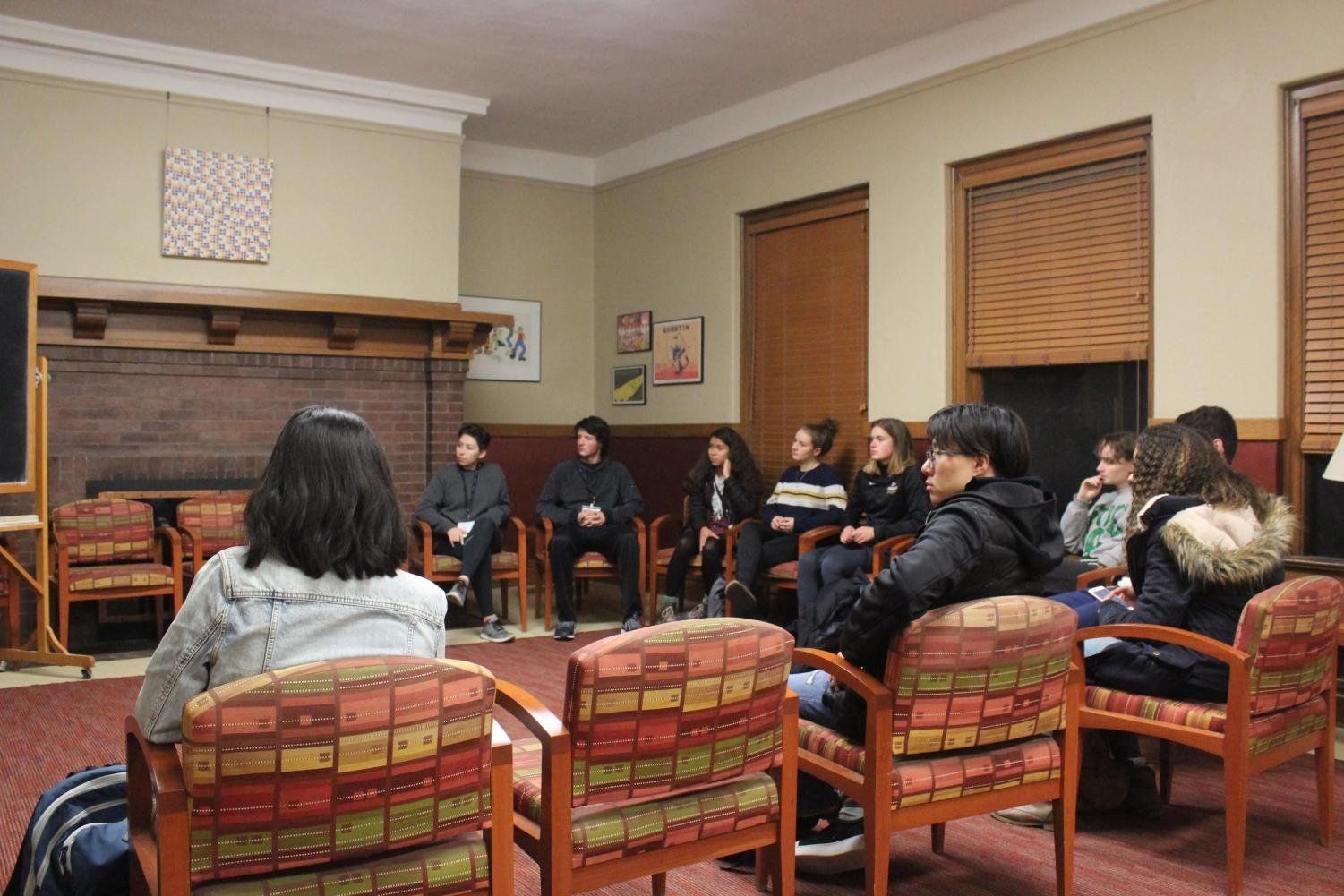 "Students participate in Project Unbound workshop, ""The Neurological Impacts of Slavery."""