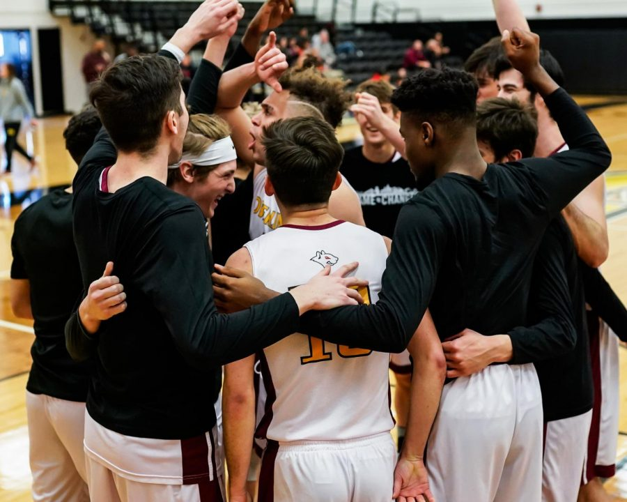 The men's basketball team looks to conclude their regular season on a high note tomorrow at Wabash College, after compiling the team's best record in over a decade. The leadership and perseverance of the upperclassmen have been indispensable to the team's success.