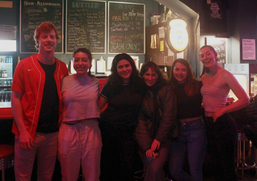 The senior 'Sco staff, from left to right: Dan Nerenhausen, Julie Schreiber, Olivia Ercilla Antrobus, Maya Blumenberg-Taylor, Emma Broun, and Meg Parker.