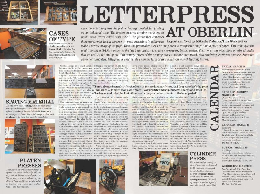Letterpress at Oberlin