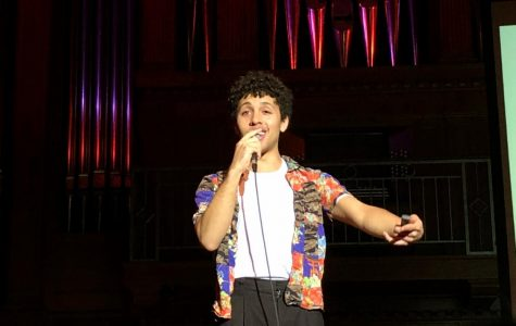 A crowd of between 800 and 1,000 students packed Finney Chapel last Saturday, with the downstairs seating filled completely for Jaboukie Young-White's free stand-up performance.