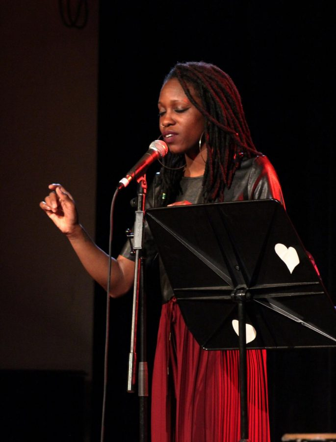 Alyesha Wise shared her poetry at the Cat in the Cream last Sunday as part of programming sponsored by OSlam and the SIC.