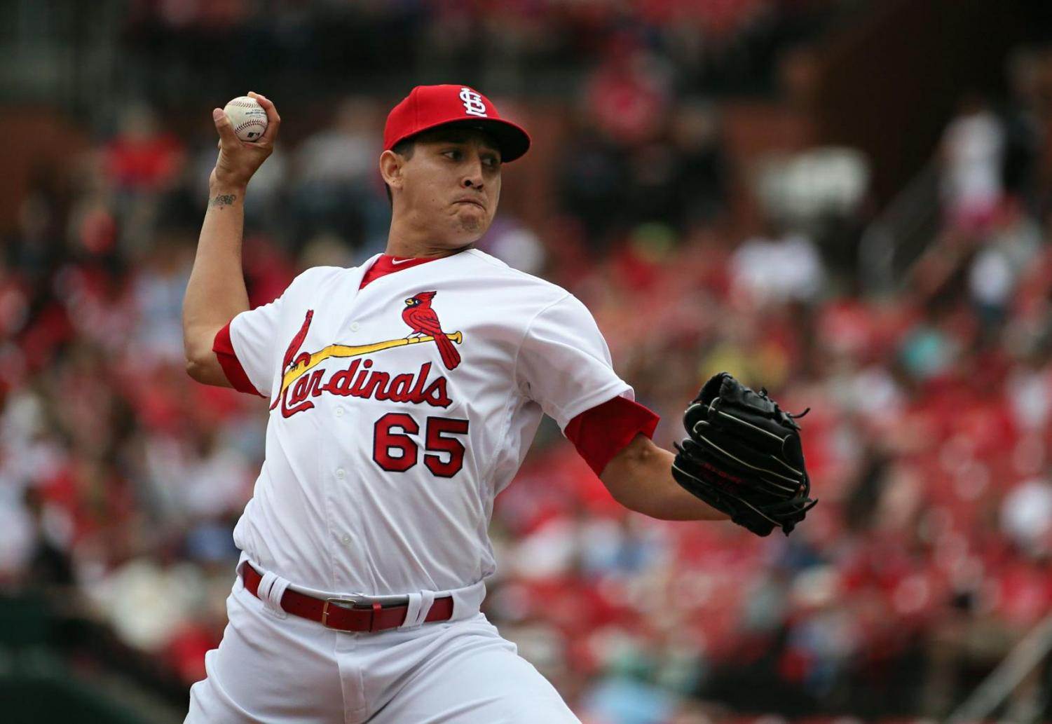 In an attempt to globalize the MLB, the St. Louis Cardinals and Cincinnati Reds faced off in a two-game series in Monter- rey, Mexico, April 13–14. Cardinals pitcher Giovanny Gallegos was the only Mexican-born player to compete in the series.