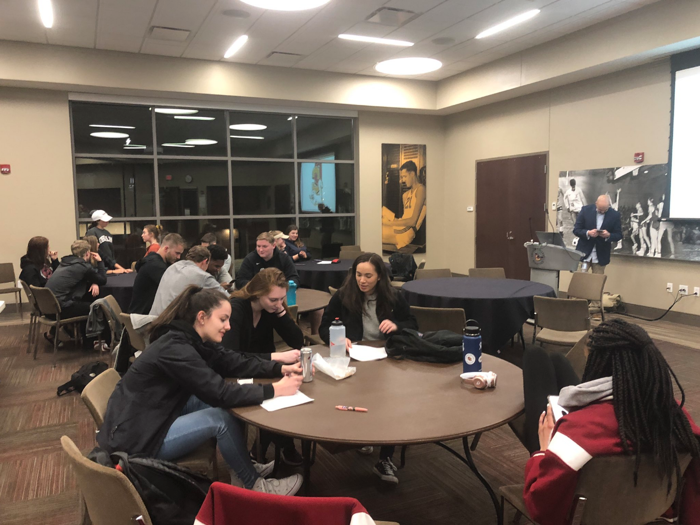 The Student Athlete Advisory Committee hosted a number of events this week to celebrate NCAA Division III Week, including a sports and OC Athletics-themed trivia night in the Knowlton Athletics Complex this Tuesday.