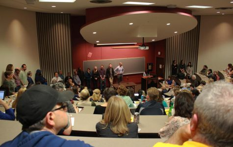 Oberlin Community members gathered for a public forum in King 306 yesterday to express thoughts and concerns about the AAPR recommendations
