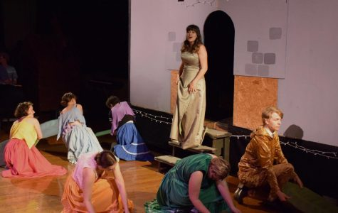 College sophomore Gina Fontanesi sings in this weekend's production of Spamalot.