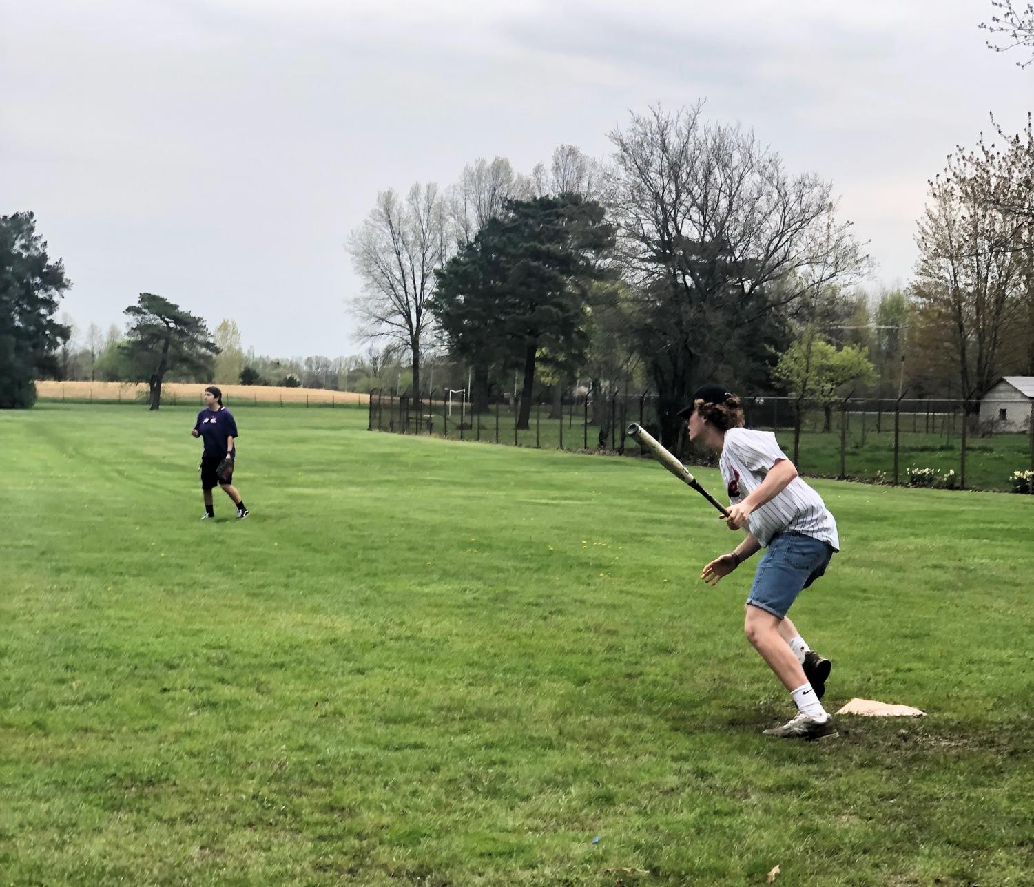 The intramural softball league provides an opportunity for non-varsity athletes to stay active and engage in a low-commitment afternoon activity, but many varsity athletes and retired student-athletes also take advantage of the relaxed yet competitive atmosphere this spring.