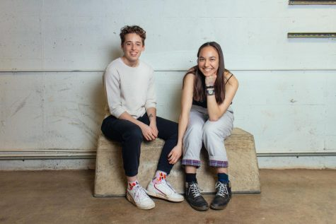 College third-years Leo Ross and Bethany Gen.