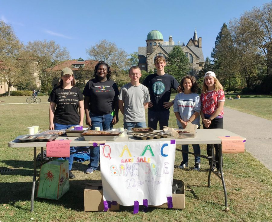 The+Queers+and+Allies+Club+of+Oberlin+High+School+hosted+a+bake+sale+yesterday+to+raise+money+for+its+expanding+group.+The+event+brought+students+from+both+the+local+high+school+and+the+College+together+over+tasty+baked+goods%2C+the+proceeds+of+which+went+toward+supporting+club+initiatives+and+t-shirts+for+members.%0A%0A%E2%80%9CWe+got+a+decent+amount+of+new+members+this+year%2C%E2%80%9D+said+Oberlin+High+School+student+and+club+vice+president+Makayla+R.+%E2%80%9CWe+want+people+to+be+able+to+join+the+club+and+get+a+shirt+for+little+to+no+cost+because+we+know+that+not+everyone+has+money+to+spend+on+shirts.%E2%80%9D%0A%0AMoney+raised+in+the+event+will+also+go+toward+an+LGBTQ%2B+prom+which+typically+happens+in+March+or+April%2C+among+other+planned+events.+As+the+club+continues+to+expand+its+membership%2C+members+hope+to+broaden+their+positive+impact+on+the+Oberlin+community.%0A%0A%E2%80%9CWe+do+community+service+for+the+school+and+for+the+town%2C%E2%80%9D+said+Oberlin+High+School+student+and+club+president+Erika+W.+%E2%80%9CWe+do+a+winter+donation+bin%2C+and+an+annual+thing+where+we+put+sticky+notes+with+positive+affirmations+on+everyone%E2%80%99s+lockers%2C+and+we+participate+in+the+Gay%2C+Lesbian%2C+and+Straight+Education+Network+annual+day+of+silence.%E2%80%9D%0A%0AThrough+the+combined+efforts+of+the+student-run+Queers+and+Allies+Club+and+their+College+mentors%2C+the+community+is+sure+to+see+their+positive+impact+both+on+and+off+campus.%0A%0A%E2%80%9CThis+year+they%E2%80%99re+trying+to+get+more+into+advocacy+work+around+teaching+school+culture%2C%E2%80%9D+College+fourth-year+and+club+mentor+Emma+Williams+said.+%E2%80%9CIt%E2%80%99s+a+priority+and+interest+of+theirs+that+I%E2%80%99m+trying+to+support.%E2%80%9D