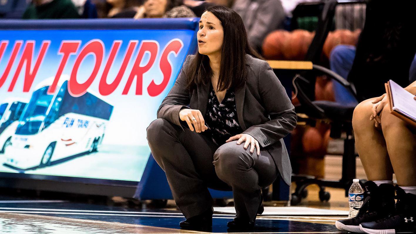 New Head Women's Basketball Coach Stephany Dunmyer.