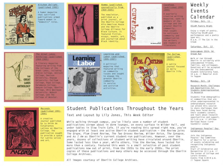 Student Publications Throughout The Years