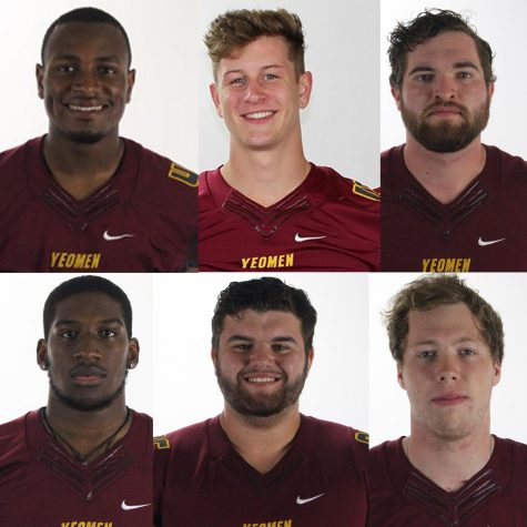 """A Thursday morning announcement revealed that six Oberlin varsity football players earned All-NCAC Honors for their exceptional independent performances this past season. Among them, fourth-year linebacker Von Wooding and second-year tight end Brandon Davies were named All-NCAC second team. Fourth-year defensive players Devin White, Jabree Hason, and Justin Godfrey and third-year offensive lineman Chandler Laird earned All-NCAC honorable mentions. Next year, the team will lose the combined efforts of Wooding, White, Hason, and Godfrey, but Davies and Laird will return to the field. Davies viewed the All-NCAC Honors as a good omen when looking ahead at next year's season, especially considering the team won only a single game this year. """"It was really encouraging since our season didn't go as planned,"""" said Davies. """"I feel like it can only get better from here on out and hopefully we can improve as a team [and I can improve] my own performance."""