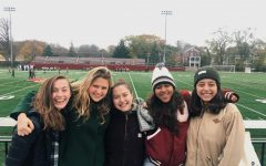 "Last Saturday, field hockey alumni from the class of 2019 returned to Oberlin to catch the final game of the season and celebrate this year's four College fourth- years Fatima Escalera, Hayley Segall, Libby Royer, and Luisa McGarvey. Their return to Oberlin served as a reflection of the team's bond — one that exists between different generations of Oberlin varsity field hockey players, even beyond graduation.  In an article published in the Review over a year ago that detailed the unique friendships developed within the field hockey team, former captain Emma Broun, OC '19, who attended this year's senior commemoration and is pictured above in the middle, described the importance of team bonding over winning — a value that this year's group of fourth- years has continued to cultivate.  ""The general culture [of the field hockey team] is very focused on kindness, care, and love,"" Broun said in 2018. ""Nobody told our team that we have to love each other and spend time together off the field — we just do. Of course, we all have the common goal of playing good field hockey and winning games, but basing an entire two months of our lives on beating other teams won't necessarily create the kind of environment we all want to live in. Instead, the common goal we are encouraged to pursue by our coaches [and each other] is being kind to others."""