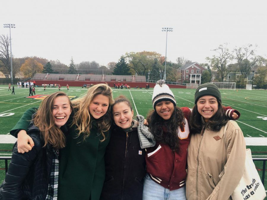Last+Saturday%2C+field+hockey+alumni+from+the+class+of+2019+returned+to+Oberlin+to+catch+the+final+game+of+the+season+and+celebrate+this+year%E2%80%99s+four+College+fourth-+years+Fatima+Escalera%2C+Hayley+Segall%2C+Libby+Royer%2C+and+Luisa+McGarvey.+Their+return+to+Oberlin+served+as+a+reflection+of+the+team%E2%80%99s+bond+%E2%80%94+one+that+exists+between+different+generations+of+Oberlin+varsity+field+hockey+players%2C+even+beyond+graduation.%0A%0AIn+an+article+published+in+the+Review+over+a+year+ago+that+detailed+the+unique+friendships+developed+within+the+field+hockey+team%2C+former+captain+Emma+Broun%2C+OC+%E2%80%9919%2C+who+attended+this+year%E2%80%99s+senior+commemoration+and+is+pictured+above+in+the+middle%2C+described+the+importance+of+team+bonding+over+winning+%E2%80%94+a+value+that+this+year%E2%80%99s+group+of+fourth-+years+has+continued+to+cultivate.%0A%0A%E2%80%9CThe+general+culture+%5Bof+the+field+hockey+team%5D+is+very+focused+on+kindness%2C+care%2C+and+love%2C%E2%80%9D+Broun+said+in+2018.+%E2%80%9CNobody+told+our+team+that+we+have+to+love+each+other+and+spend+time+together+off+the+field+%E2%80%94+we+just+do.+Of+course%2C+we+all+have+the+common+goal+of+playing+good+field+hockey+and+winning+games%2C+but+basing+an+entire+two+months+of+our+lives+on+beating+other+teams+won%E2%80%99t+necessarily+create+the+kind+of+environment+we+all+want+to+live+in.+Instead%2C+the+common+goal+we+are+encouraged+to+pursue+by+our+coaches+%5Band+each+other%5D+is+being+kind+to+others.%E2%80%9D