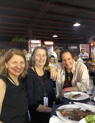 Professor of Hispanic Studies Ana Cara, Amanda Dargan, and Steve Zeitlin.
