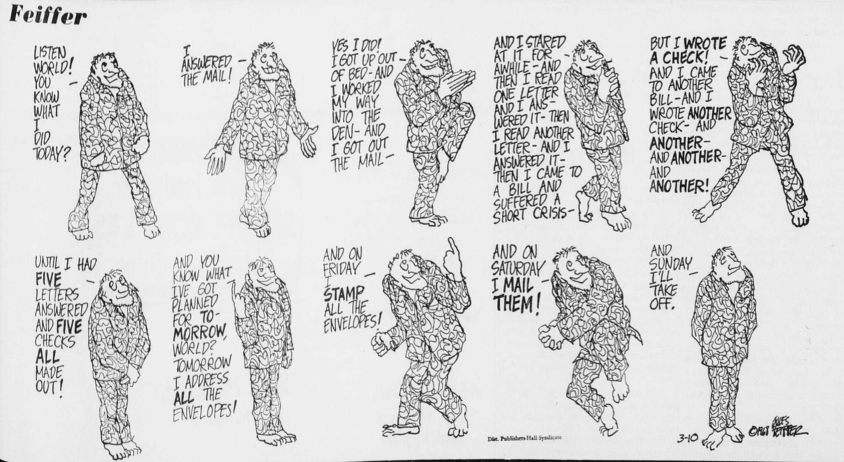 This comic was originally printed in the March 12, 1968 issue of The Oberlin Review.