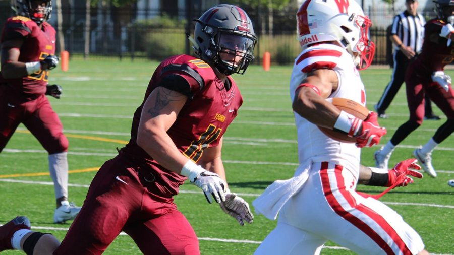 "This past Saturday, College fourth-year Von Wooding racked up 13 tackles against Wabash College, giving him a career total of 296. This moved him past his former teammate, Bennett Jackson, OC '17, for second most all time at Oberlin. ""It honestly is more bittersweet than anything,"" Wooding said. ""It reminds me that I don't have very much time left to play this game. Breaking records has always been a goal of mine, but what I cherish way more is the memories that I made along the way and the people who gave me the strength to do it."" Wooding's record further punctuates what has been a strong year for the Oberlin defense. Currently, the Yeomen rank third in the North Coast Athletic Conference in rushing yards allowed per game, third in fumble recoveries, and tied for first in interceptions. Much like his record, Wooding attributes the success of the team's defense to those who have supported both him and the program over the last four years. ""I owe this accomplishment to the Oberlin community, my family and friends back home, and to the other players that have helped transform this program for the better,"" Wooding said."