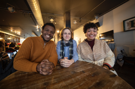 From left to right, College fourth-years Jaris Owens, Griffin Woodard, and Miyah Byers. All three students are congregants of the House of Lord Fellowship.