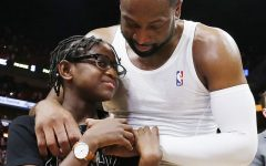 Former NBA player Dwyane Wade and daughter Zaya Wade.