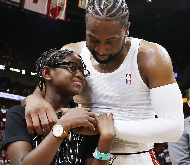 Dwyane with Zaya/Dwyane Wade/Dwyane Wade's Supports Trans Daughter Amidst Trolling