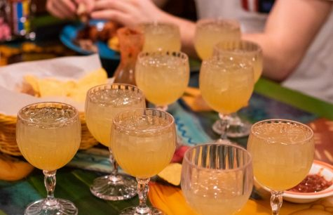Margaritas on the rocks at Lupitas Mexican Restaurant during their Marg Night special.