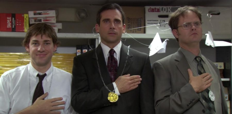 Jim brightens everyone's day with the Dunder-Mifflin Olympiad in