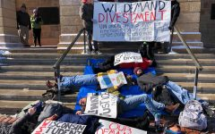University of Wisconsin students protest the institution's fossil fuel investments.