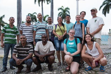 A photo of the author's research group in Cuba. Author pictured first row, second from right.