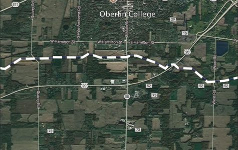 The NEXUS pipeline's route through Oberlin.