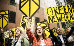 Young activists rally for the Green New Deal.