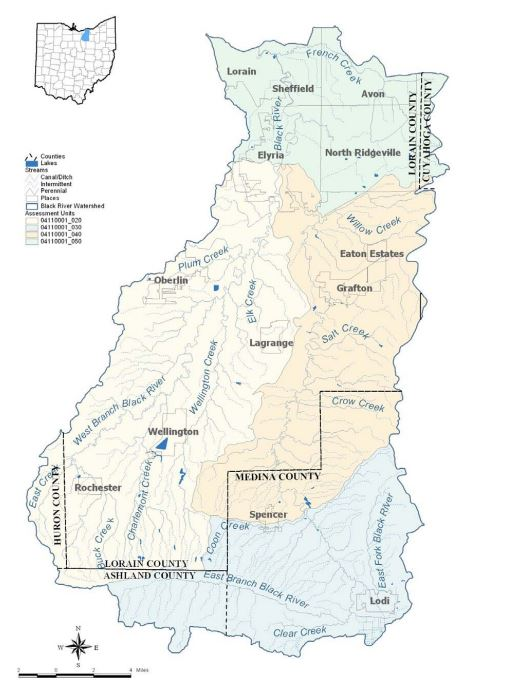 The Black River Watershed, where the City of Oberlin collects its drinking water.