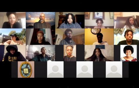 Afrikan Heritage House faculty and residents hold an Umoja meeting over Zoom, as shown in the documentary
