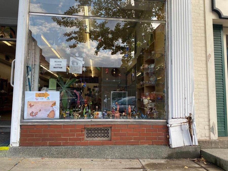 A car drove into the window of Ginko Gallery and Studio on Thursday.