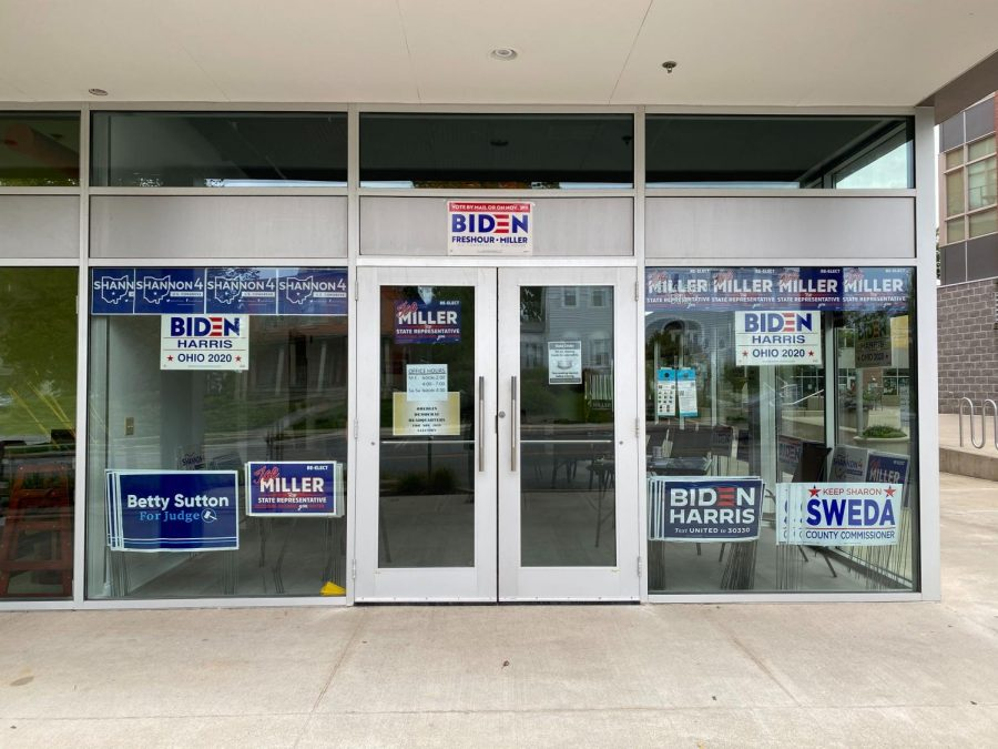Local Democratic candidates opened a Biden campaign office in downtown Oberlin in October.