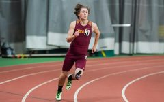 Nic Jandeleit racing during his Track and Field season.