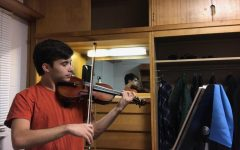 Conservatory second-year Jasper de Boor is a viola and violin performance double major. Similar to many Conservatory students, de Boor now practices primarily in his dorm room in East.