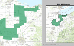 Ohio's 4th Congressional District, notoriously gerrymandered in the shape of a duck.