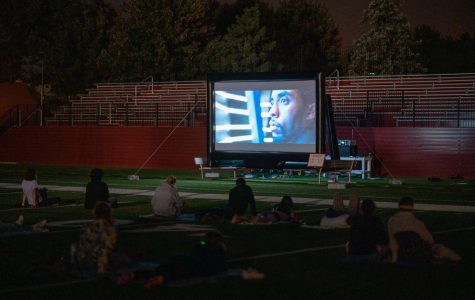 The Program Board screened Black Panther for students in Bailey Field.