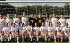 The varsity women's soccer team.