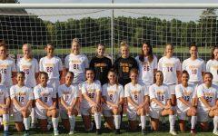 The varsity women's soccer team.