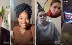 (Left to right) Palmer Lessenberry, Nasirah Fair, Jane Wickline, and Lila Templin are among the Oberlin students who have found notoriety on the popular video-sharing app TikTok.