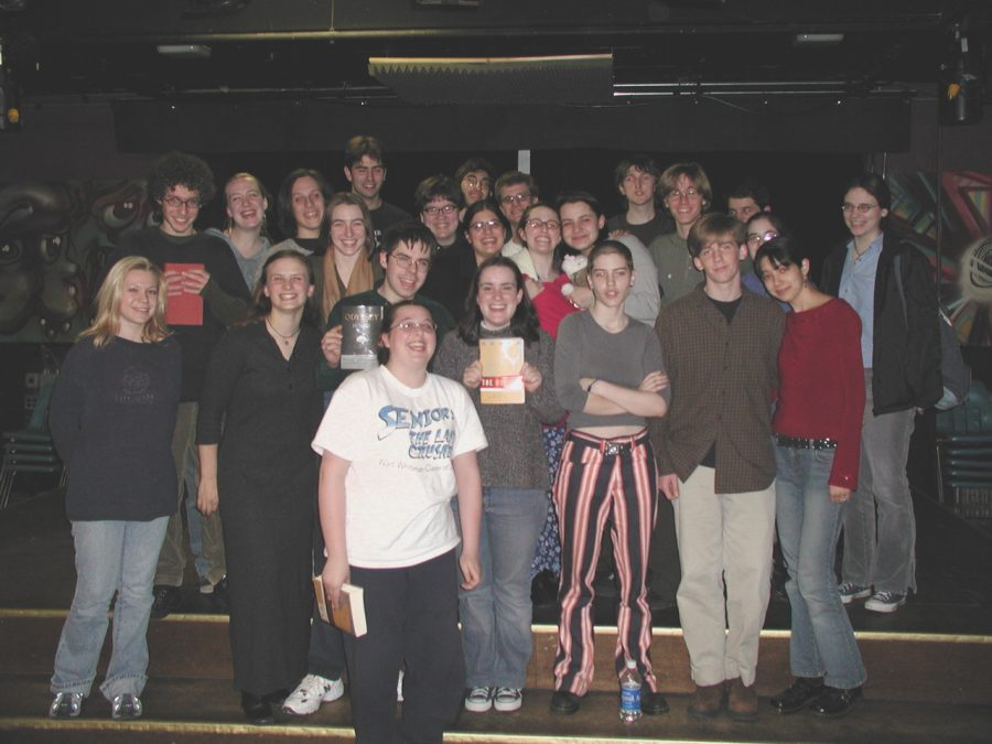 Classics students finish reading the Iliad at 4 a.m. in the 'Sco in 2003. The annual Bardic Reading will take place this Saturday over Zoom.